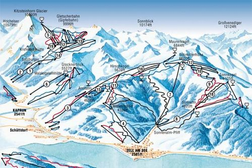 Kaprun Piste Map Kaprun piste map